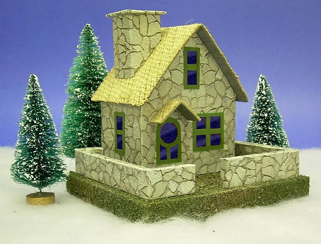 Building a vintage style cardboard stone cottage for How to make house green