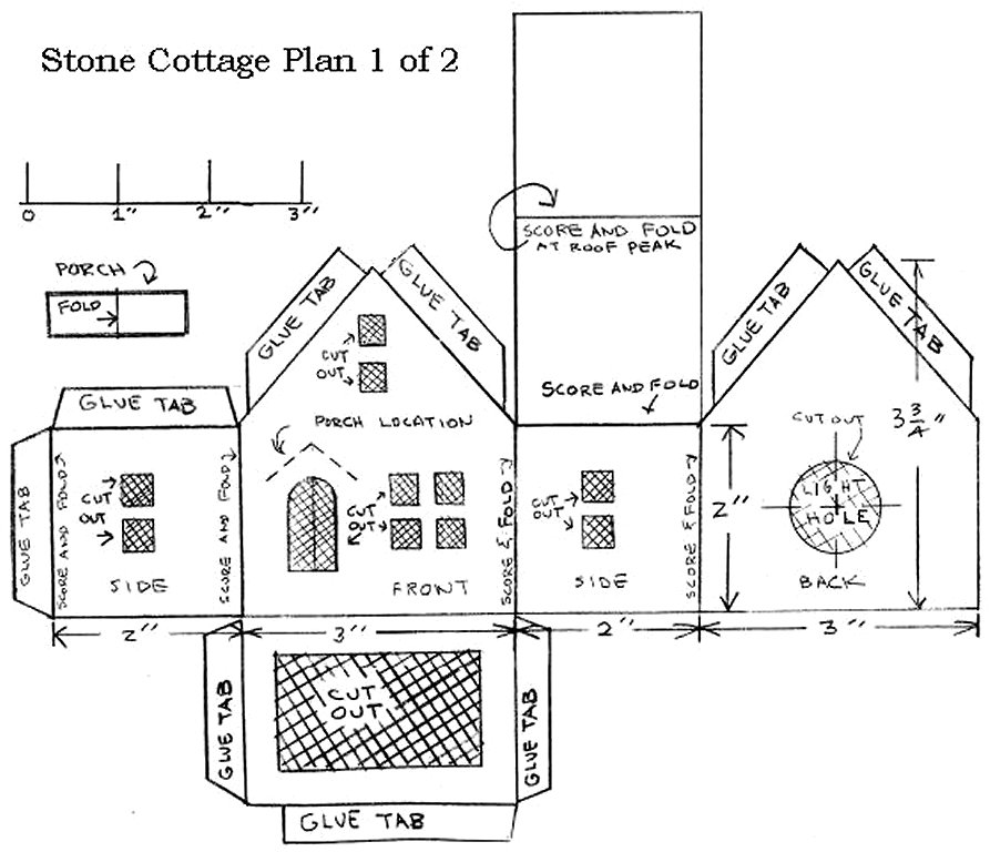Building a vintage style cardboard stone cottage for Stone cottage plans