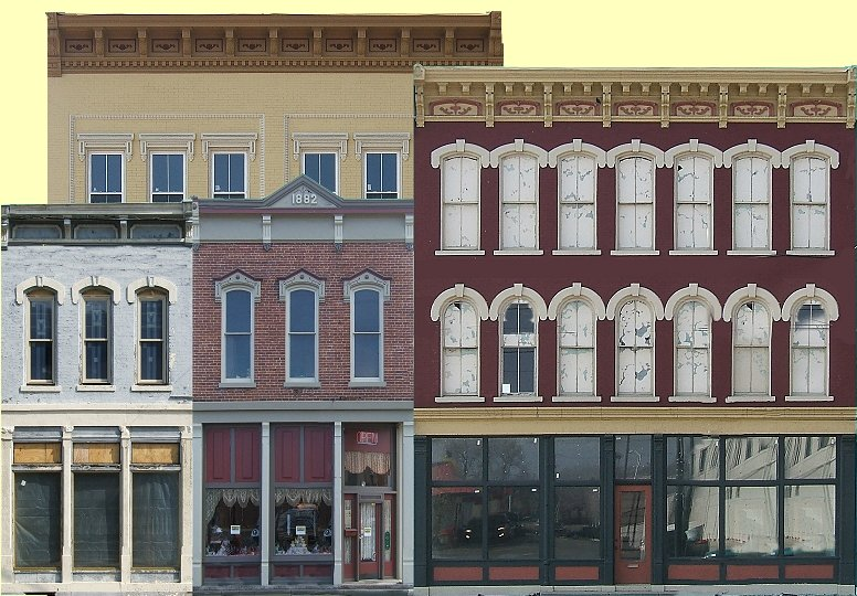 image about Printable Model Railroad Buildings titled Simple Keep Entrance Apartments