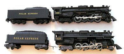 The S Scale Polar Express locomotive compared to the O27 version.  Click to go to the article.